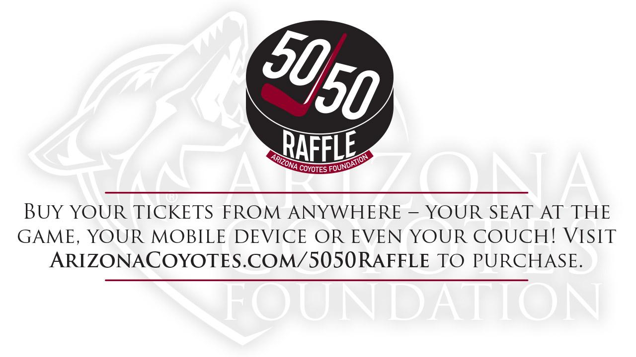 arizona coyotes 50 50 raffle national sports forum